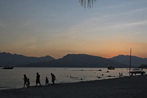 Sunset on a Philippine beach.