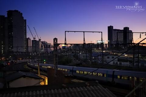 Sunset at Yongsan Station…