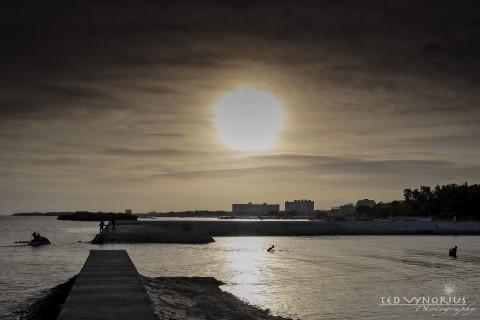 Sunset on the Island…
